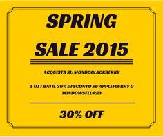Promozione di primavera su MondoBlackBerry :http://www.mondoblackberry.com/altro/82303-promozione-di-primavera-su-mondoblackberry/