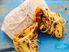 Low FODMAP Wraps with Veggie Filling' by A Little Bit Yummy licensed as All Rights Reserved