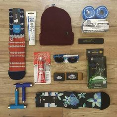 More inspiration for small gifts! Like Stance Socks, Skate Tools, Beanies, Sunglasses, Shoe Goo, Third Kind Lights for under your board, or Shark Wheels, Small accessories like a Dickies Belt, or some CRC Multi Grease to grease up your pivot cups! #gifts #presents #thattimeoftheyear