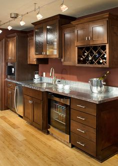 Design Center Wet Bar - Kitchen Design Pictures | Pictures Of Kitchens | Kitchen Cabinet Ideas | Cabinetry Gallery