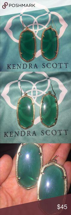 Kendra Scott Danielle earrings in jade green Kendra Scott Danielle earrings in jade green. The color is beautiful! Kendra Scott Jewelry Earrings