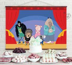 Sing Printable Backdrop   Sing Movie Backdrop   Sing Movie INSTANT DOWNLOAD   Sing Movie Party   Sing Movie Birthday   Sing   Sing Printable