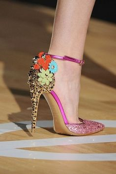 * Walking in Style * / #Floral Glamorous High #Heels |2013 Fashion High Heels| |2013 Fashion High Heels|