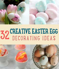 Looking for Easter egg decorating ideas? If you're looking for fun and easy Easter crafts and ideas on how to decorate Easter eggs, you're in luck. I've made a list of Easter egg ideas to make sure that you and your family will have a fun Easter egg hunt Easy Easter Crafts, Easy Diy Crafts, Creative Crafts, Easter Ideas, Easter Decor, Easter Egg Designs, Easter Traditions, Easter Activities, Egg Decorating