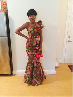 African Dresses Ankara Gown Design http://www.dezangozone.com/2015/08/african-dresses-ankara-gown-design.html