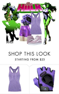"""""""she-hulk"""" by kimannosaurs ❤ liked on Polyvore featuring Athletic Propulsion Labs, Flexfit and Vans"""