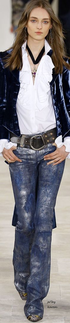 Diamond Cowgirl ~ Ralph Lauren Fall 2016 RTW