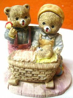 Ceramic Decorative Bears Hand Painted Mama Papa and Baby family home figurines $14.35 Free Shipping. Accessorizing is very important for Your Personal Style! Island Heat Products www.islandheat.com today's clothing Fashions.