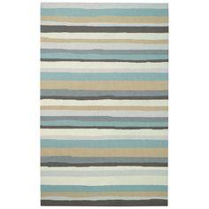 Capel Rugs Intrique Stripe Green Hooked Wool Rug @Layla Grayce