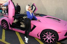 Nicki Minaj ruined her $400,000 Lamborghini by painting it pink:  Let's start by saying that this, er, creative expression is not to raise money for breast cancer awareness, or any other moral cause. No, Nicki Minaj painted her $400,000 Lamborghini Aventador pink because it's, like, totally blazin', or something.