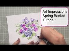 Kendra Krebs: Art Impressions Spring Basket, Flower, and Foliage sets; Watercolor Projects, Watercolour Tutorials, Watercolor Cards, Watercolor Heart, Art Impressions Stamps, Greeting Cards Handmade, Making Ideas, Cardmaking, Homecoming Dresses