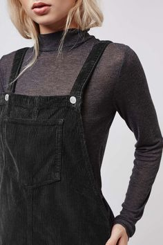 TALL Cord Pinafore Dress