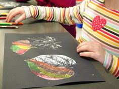 new city arts: first grade autumn leaves