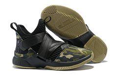 "finest selection c6ef6 3ef5b Nike LeBron Soldier 12 SFG ""Camo"" Black Black-Hazel Rush"