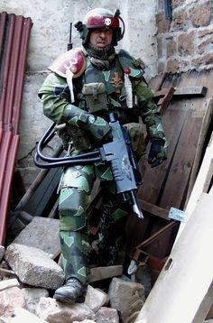 Kasrkin with hellgun by ElysianTrooper