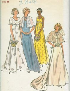 Vintage bridal gown sewing pattern UNCUT by rosesvintagesewing, $12.00
