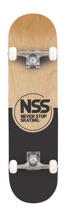 Never Stop Skating Complete Skateboard