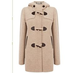 Khaki Hooded Long Sleeve Horn Button Trench Coat ($55) ❤ liked on Polyvore