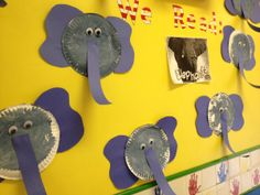 paper plate elephant craft