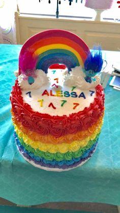 #rainbowbirthdaycake