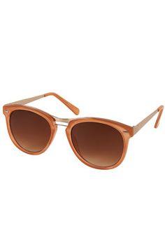 peach sunglasses. want. despite lack of sunshine in nyc....