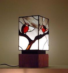 """Snow birds"" glass table lamp by Israeli designer Nili Glick http://glickglass.carbonmade.com"