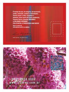 artista plática LU ABREU postal(eco card com semente de ipê rosa) design por katianey / kátia ney