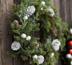 Lit Gray Pinecone Outdoor Collection | Pottery Barn
