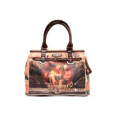 Nicole Lee Cowgirl Wheel Western Print Overnight Bag - Cowgirl... ($87) ❤ liked on Polyvore featuring bags, luggage and brown