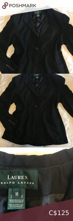 Lauren Ralph Lauren Blazer In excellent used condition, no holes or stains. Wool blend. Super cute as an oversized look.  63% viscose rayon 35% wool 2% lycra elastane Ralph Lauren Jackets & Coats Blazers & Suit Jackets Ralph Lauren Blazer, Ralph Lauren Black Label, Ralph Lauren Jackets, Suede Blazer, Linen Blazer, Black Silk Dress, Floral Blazer, Leather Trench Coat, Double Breasted Jacket