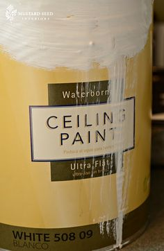 Miss Mustard Seed Blog Here are a few tips if you're about to paint a ceiling...