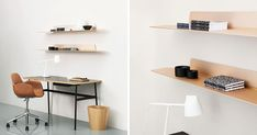 CONTEMPORIST: Jet Is A Thin, Modern, Minimalist Shelf http://www.davincilifestyle.com/contemporist-jet-is-a-thin-modern-minimalist-shelf/    Jet Is A Thin, Modern, Minimalist Shelf | CONTEMPORIST                            Jet shelf, a thin, modern, minimalist shelf designed by Simon Legald for Normann Copenhagen, is a wall storage solution that combines horizontal and vertical lines to create a simple yet sturdy shelf that can be used to store and display objects