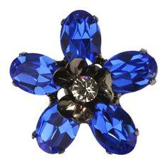 Broche flor de cristales de Swarovski