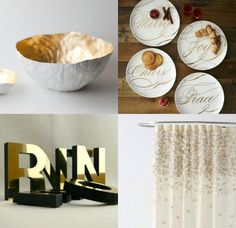Golden Picks for Your Home.  All those glitters turn to gold.