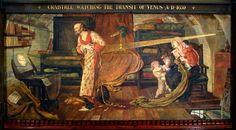 Mural depicting Crabtree Watching the Transit of Venus AD 1639 (pigment, varnish, wax & gum)