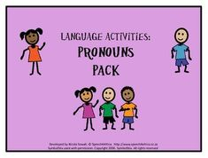 Language Activities: Pronouns Pack Pronoun Activities, Language Activities, Autism Spectrum Disorder, Children With Autism, Speech And Language, Speech Therapy, Target, Packing, Therapy Ideas