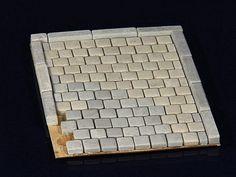 15 Keramik Bordsteine Bordsteinkanten betongrau 1:35
