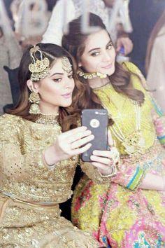 Stunning Aiman Khan and Minal Khan. Pakistani Wedding Outfits, Pakistani Bridal Wear, Pakistani Dresses, Indian Bridal, Bridal Lehenga, Wedding Wear, Wedding Party Dresses, Bridal Dresses, Wedding Bells