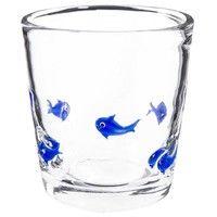 Gobelet motif poissons bleus en verre | Maisons du Monde