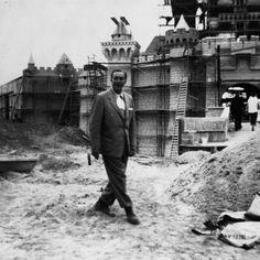Walt during the building of DIsneyland