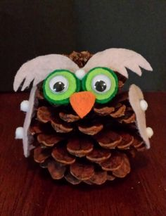 Handmade Pine Cone Owl by SeaShellsByCarrie on Etsy
