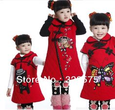 Free fast shipping by FedEx girls traditional chinese new year clothes Children kids Tang suit cheongsam red dress Qipao G008 on AliExpress.com. $68.88