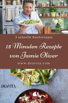 Jamie Oliver 15 minute recipes - 3 quick & easy dishes to cook - Archambault Imlach Jamie Oliver 15 Minute Meals, Jaimie Oliver, Vegan Coleslaw, Melting Chocolate Chips, Healthy Dessert Recipes, Healthy Food, Stop Eating, Food Inspiration, Delish