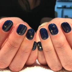 40 Stylish Easy Nail Polish Art Designs for This Summer for 2019 – Page 33 of 40 - Beauty Home - Beauty. 40 Cute Star Nail Art Designs For Women 2019 Page 29 of 40 - Star Nail Art, Star Nails, Nail Art Blue, Teen Nail Art, Navy Blue Nails, Trendy Nails, Cute Nails, Hair And Nails, My Nails