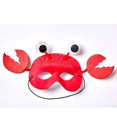 How To Make A Crab Mask Preschool Crafts, Crafts For Kids, Crab Costume, Crab Crafts, Fish Mask, Welcome Home Parties, Recycled Art Projects, Ladybug Crafts, Dollar Store Halloween