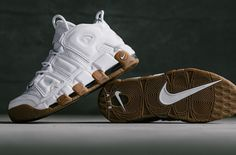 f1b6885898e75 The Nike Air More Uptempo White Gum edition is showcased in more detail