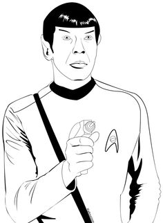 star trek coloring pages | Spock Coloring Page by ~KaitouCoon on deviantART