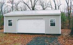 Building Dimensions: 24' W x 32' L x 10' H 24' Standard Trusses, 4' on Center, 4/12 Pitch  Colors: Siding Color: Clay Roofing Color: Clay Trim Color: Brite White  Openings: (1) 16' x 8' Residential Garage Door with Dutch Corners (2) 3' x 4' Single-Hung Insulated Windows with Screens & Grids (1) 3068 9-Lite Entry Door  Overhangs: Eaves: 1' & Gables: Flush Soffit: White Vinyl  For More Details: http://pioneerpolebuildings.com/portfolio/project/24-w-x-32-l-x-10-h-id-145-total-cost-contact-us