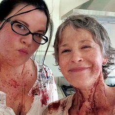 Melissa McBride & Ann Mahoney Behind The Scenes