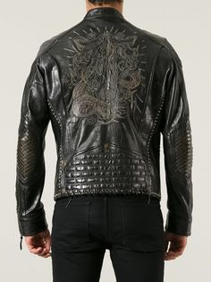 HTC HOLYWOOD TRADING COMPANY - embroidered biker jacket 10